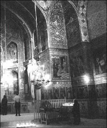 Interiøret i Betlehemskirken, Jolfa