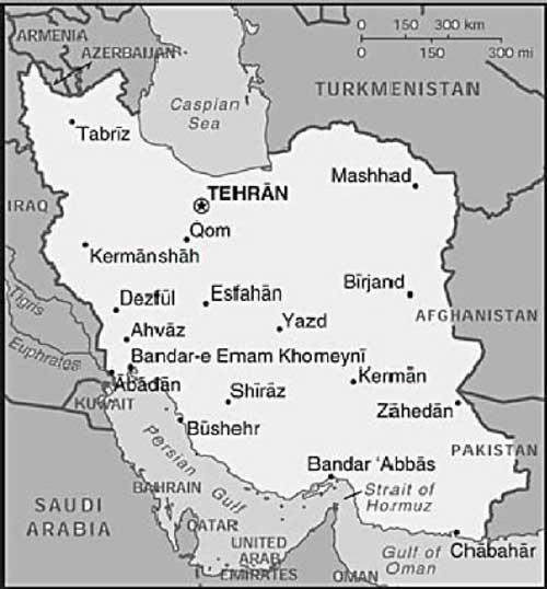 Kart over Iran