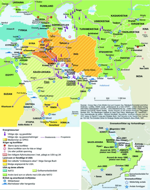 Kart:Ressurser og konflikter i Midtøsten